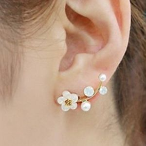 ❤️gorgeous gold daisy flower earring